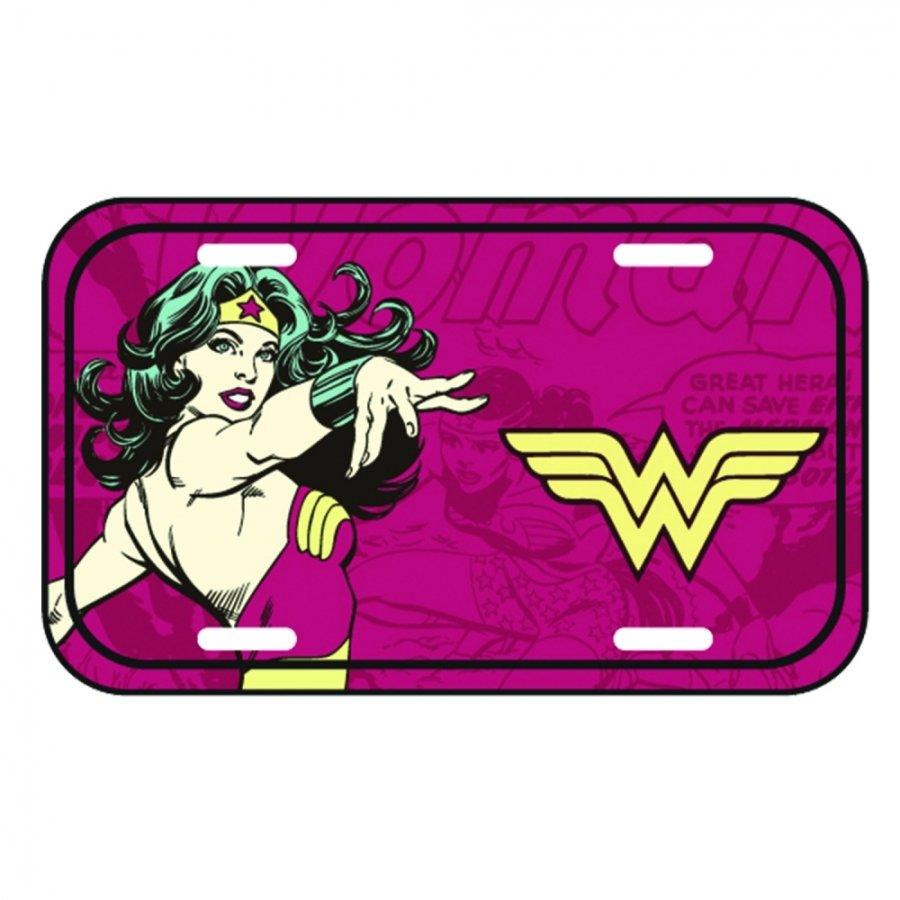Placa De carro Mulher-Maravilha (Wonder Woman) Clássica - Metropole