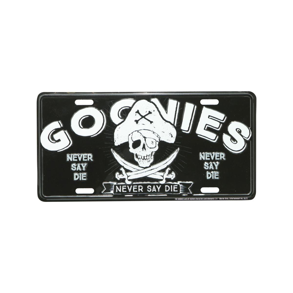 Placa de Carro Os Goonies (The Goonies) Preto: Os Goonies (The Goonies) - Urban