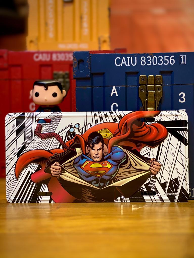 Placa de Carro: Super Homem Superman Dc Comics - Urban