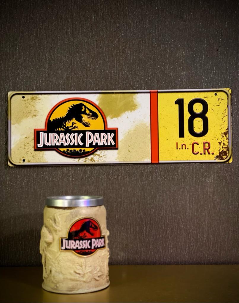 Placa Decorativa 18 I.n.CR: Jurassic Park
