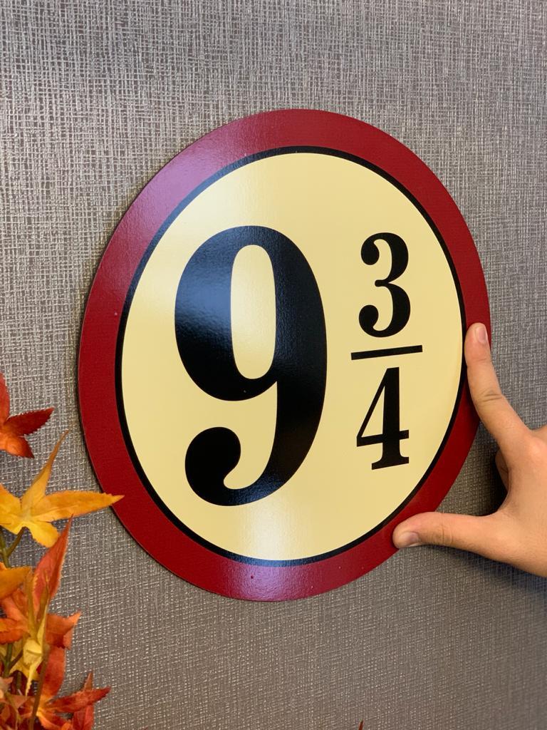 Placa Decorativa 9 3/4: Harry Potter - Redonda