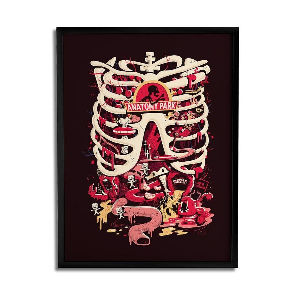 Quadro Anatomy Park: Rick and Morty