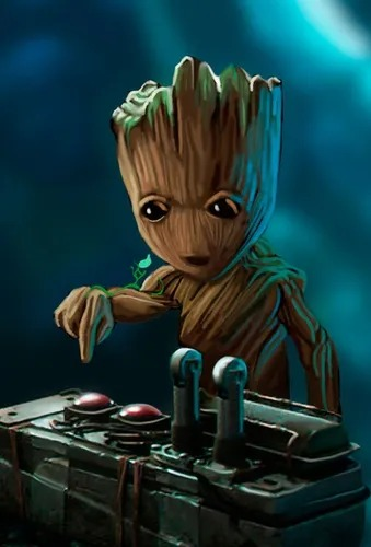 Placa Decorativa Baby Groot Guardiões da Galáxia Guardians Of The Galaxy Marvel Comics