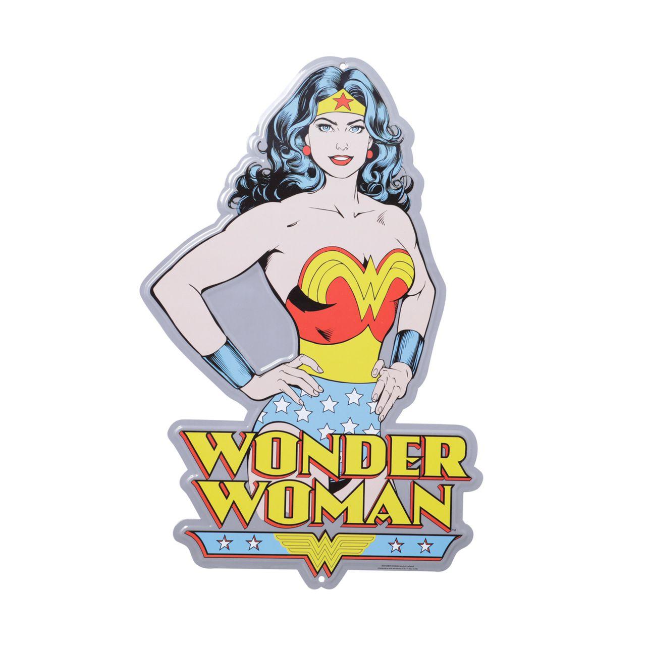 Placa Decorativa Busto Mulher-Maravilha Clássica  (Wonder Woman) - Urban