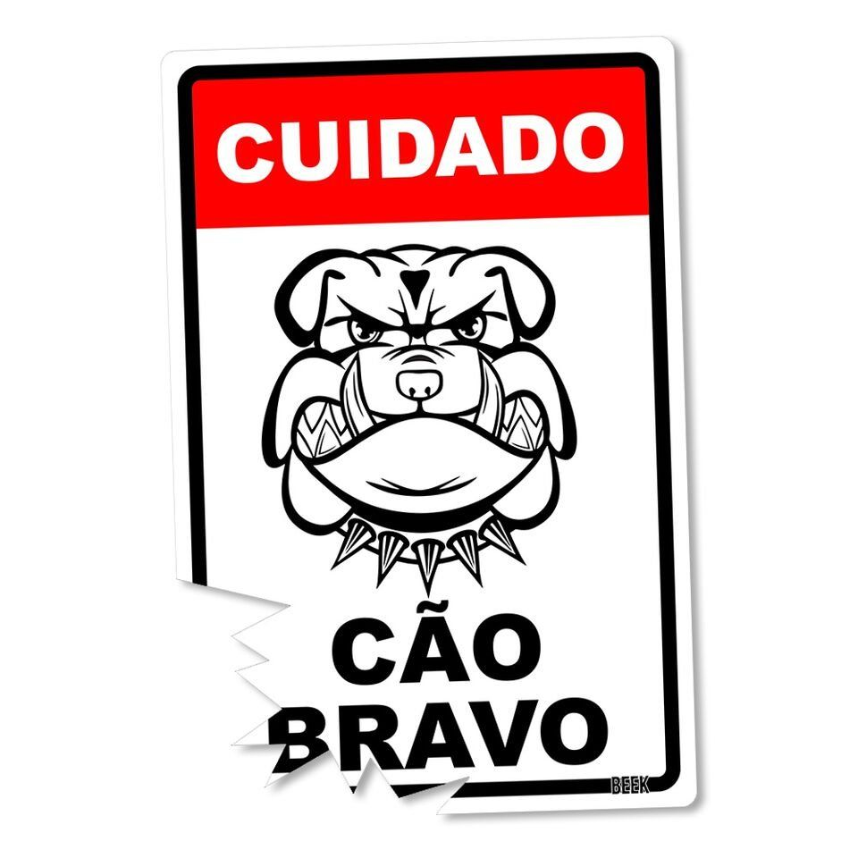 Placa Decorativa Cão Bravo