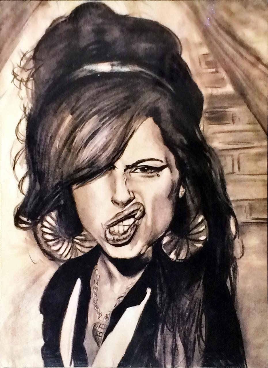 Placa Decorativa: Caricatura Amy Winehouse