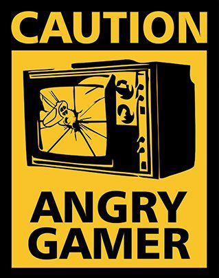 Placa Decorativa Caution Angry Gamer