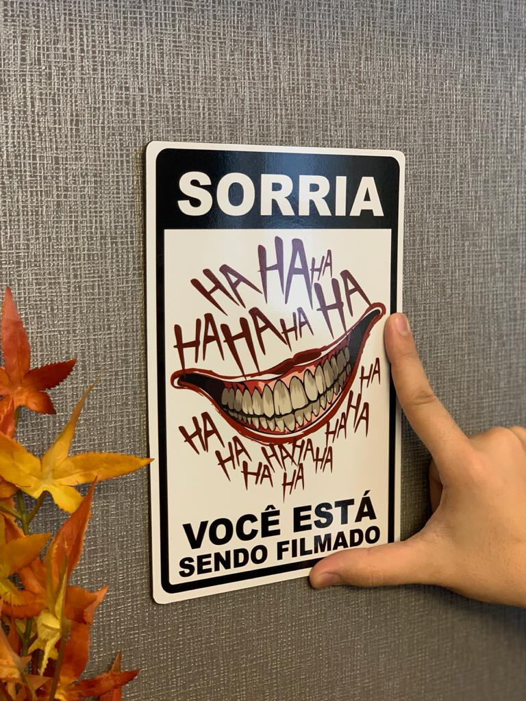 Placa Decorativa Coringa ( Joker ) (HaHaHa)