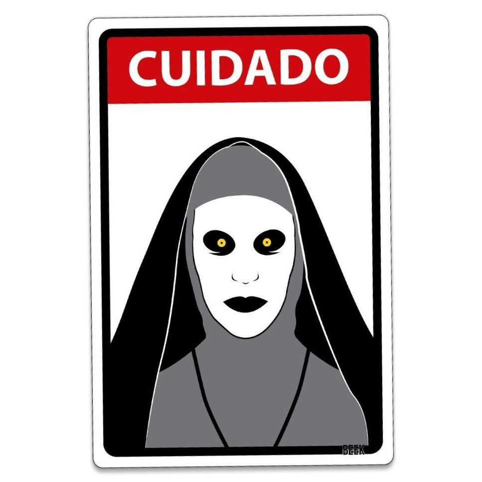"Placa Decorativa: ""Cuidado A Freira"""