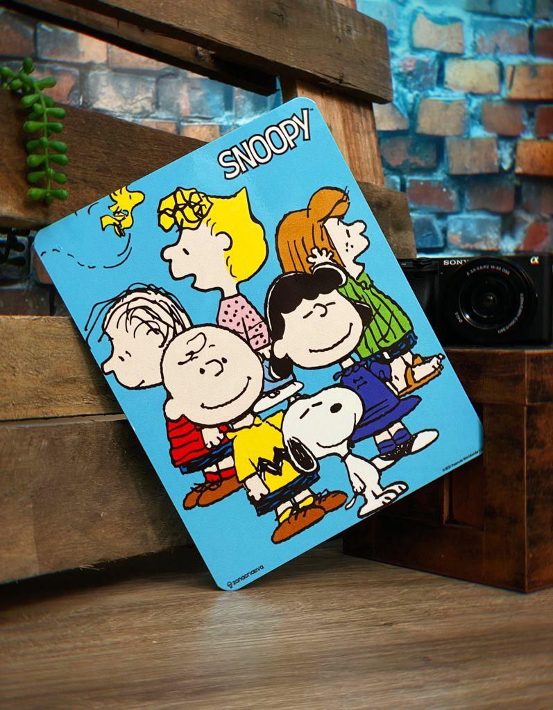 Placa Decorativa de Metal Snoopy Amigos: Peanuts - Zona Criativa
