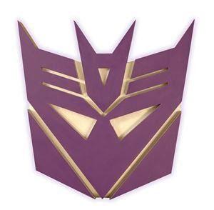Placa Decorativa Decepticon: Transformers - Diamond