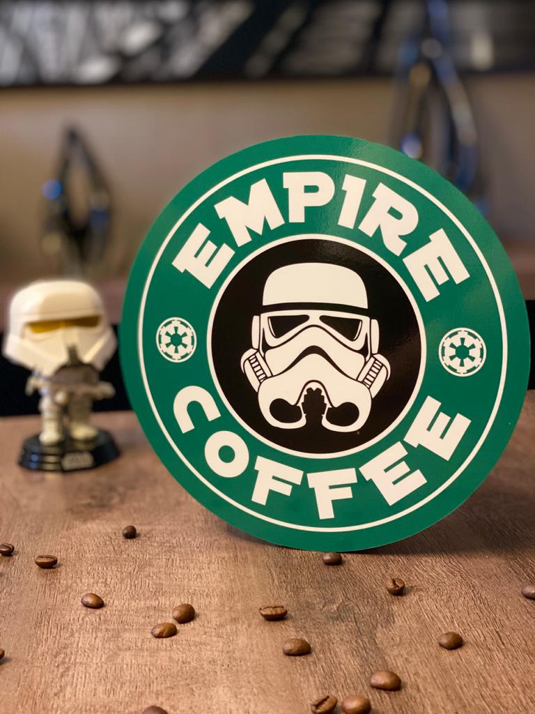 Placa Decorativa: Empire Coffee