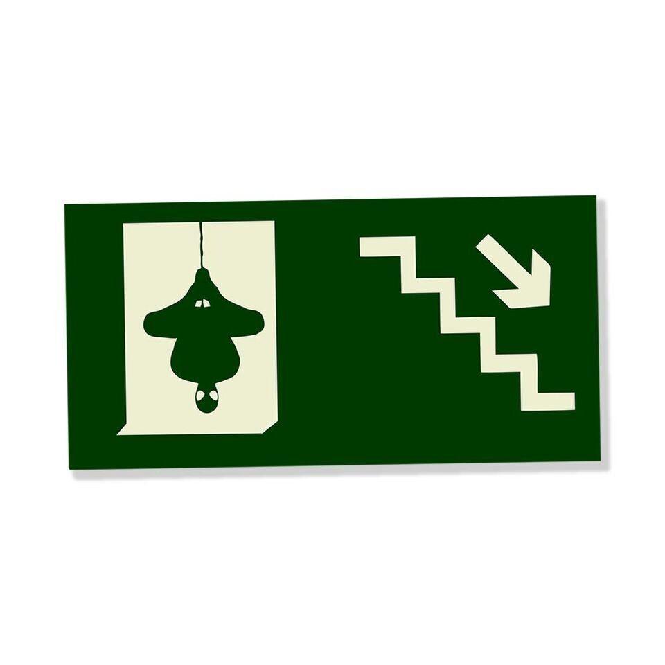 Placa Decorativa Escada (Descer)