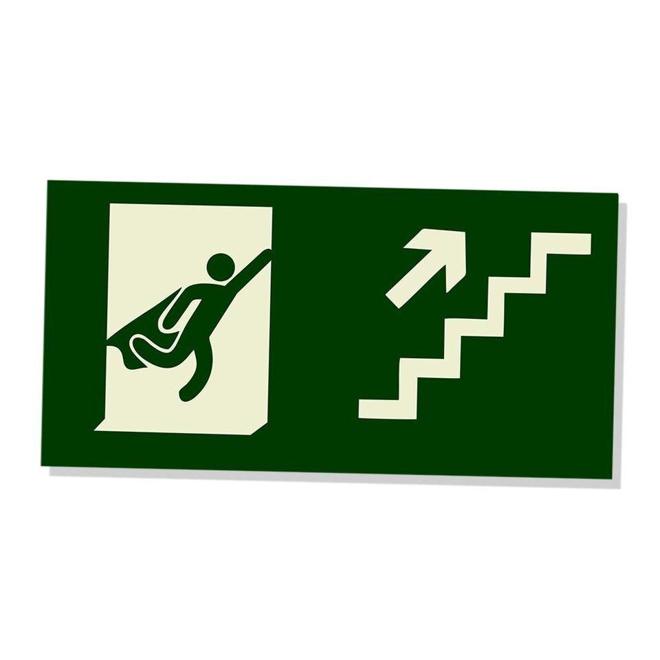Placa Decorativa Escada (Subir)