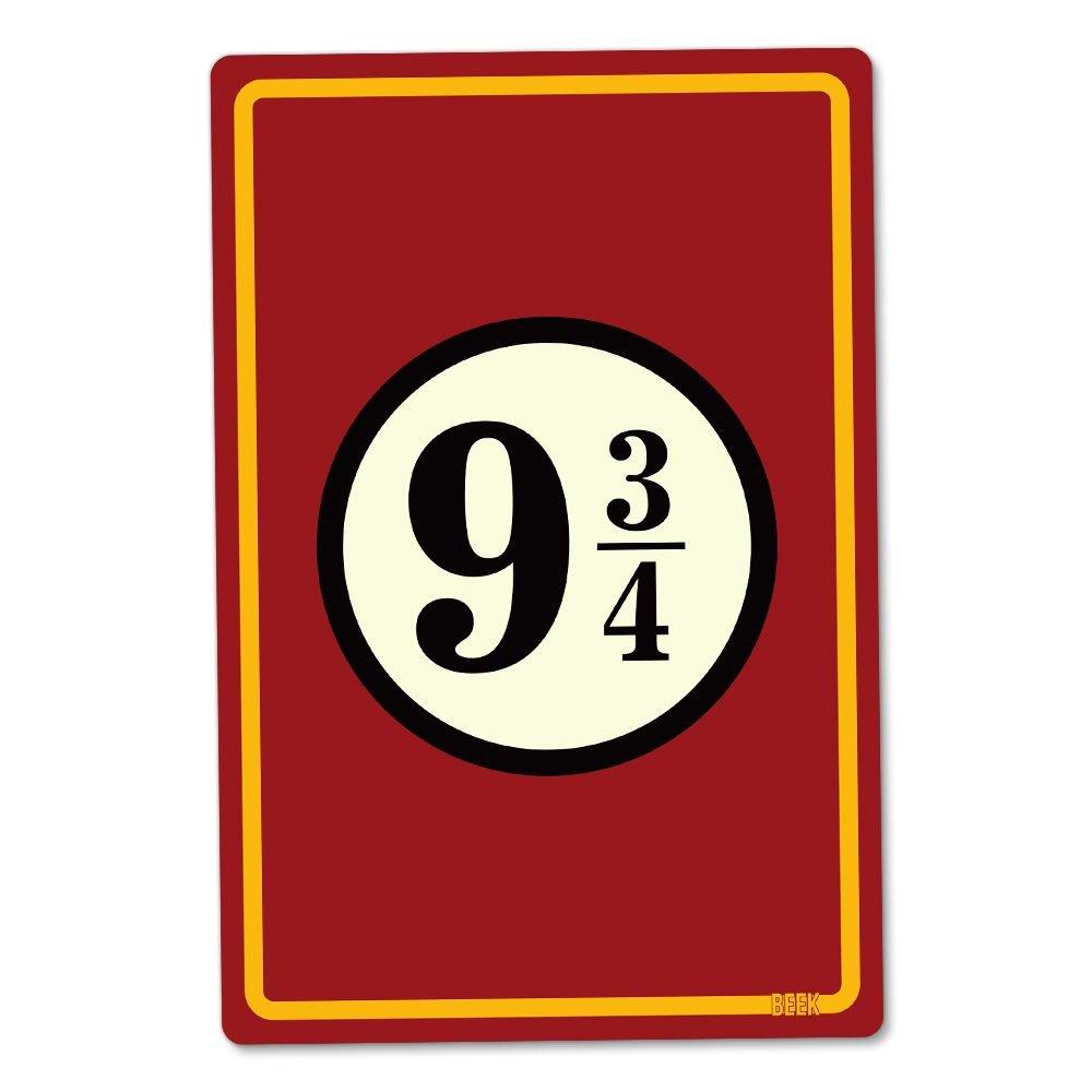 Placa Decorativa Estação 9 3/4 (Plataforma 9 3/4): Harry Potter