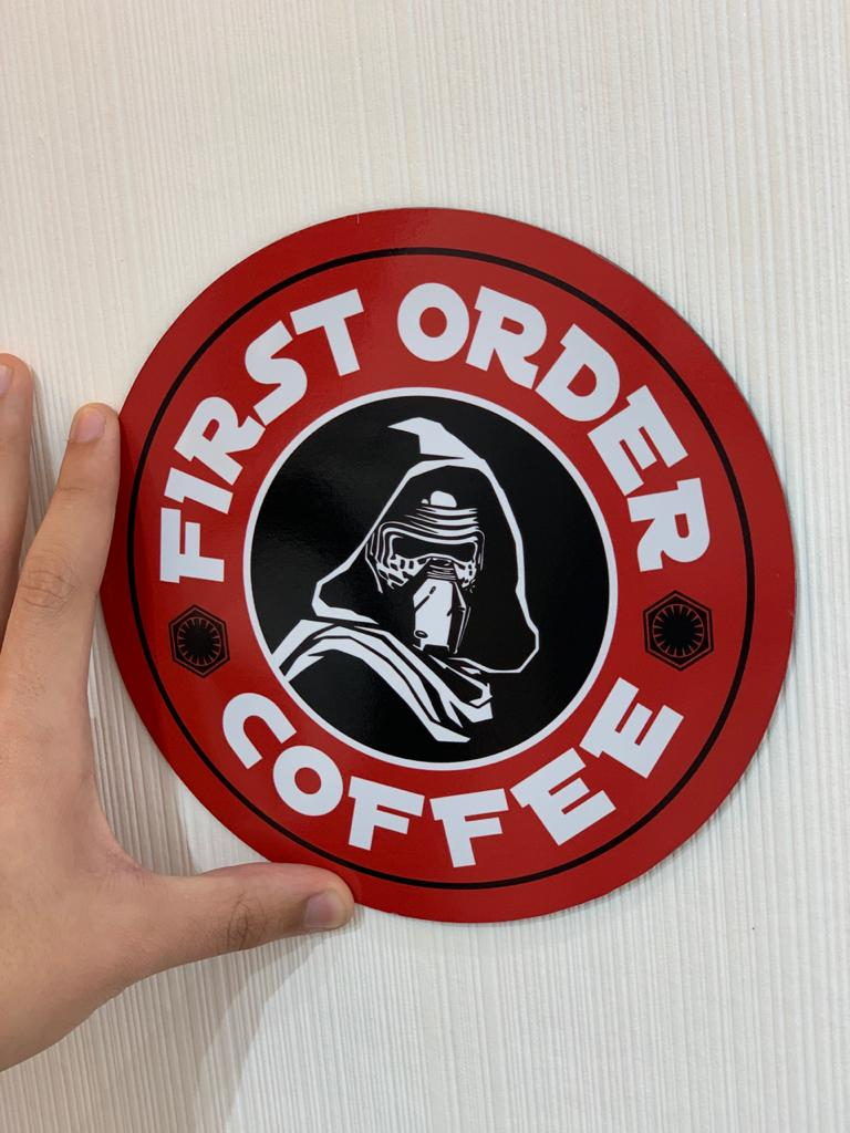 Placa Decorativa: First Order Coffee