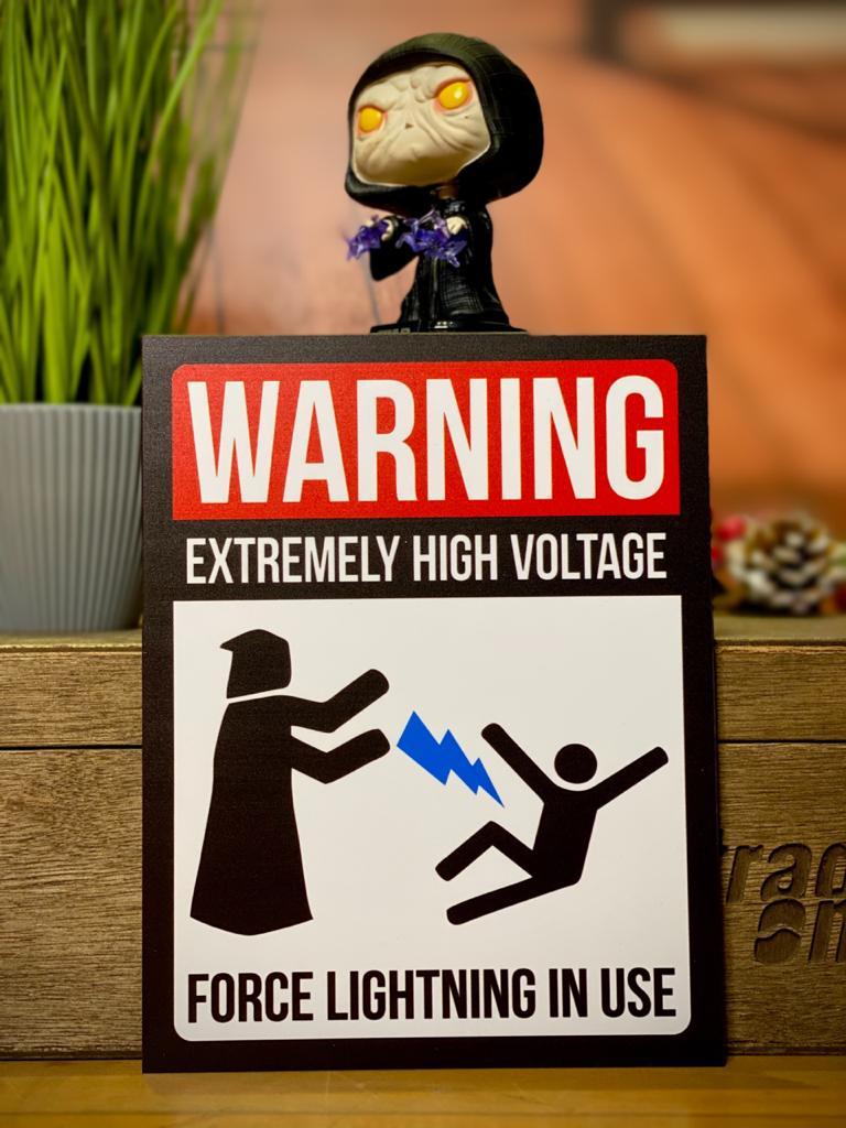 Placa Decorativa Force Lightning