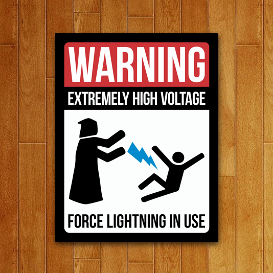 Placa Decorativa Force Lightning