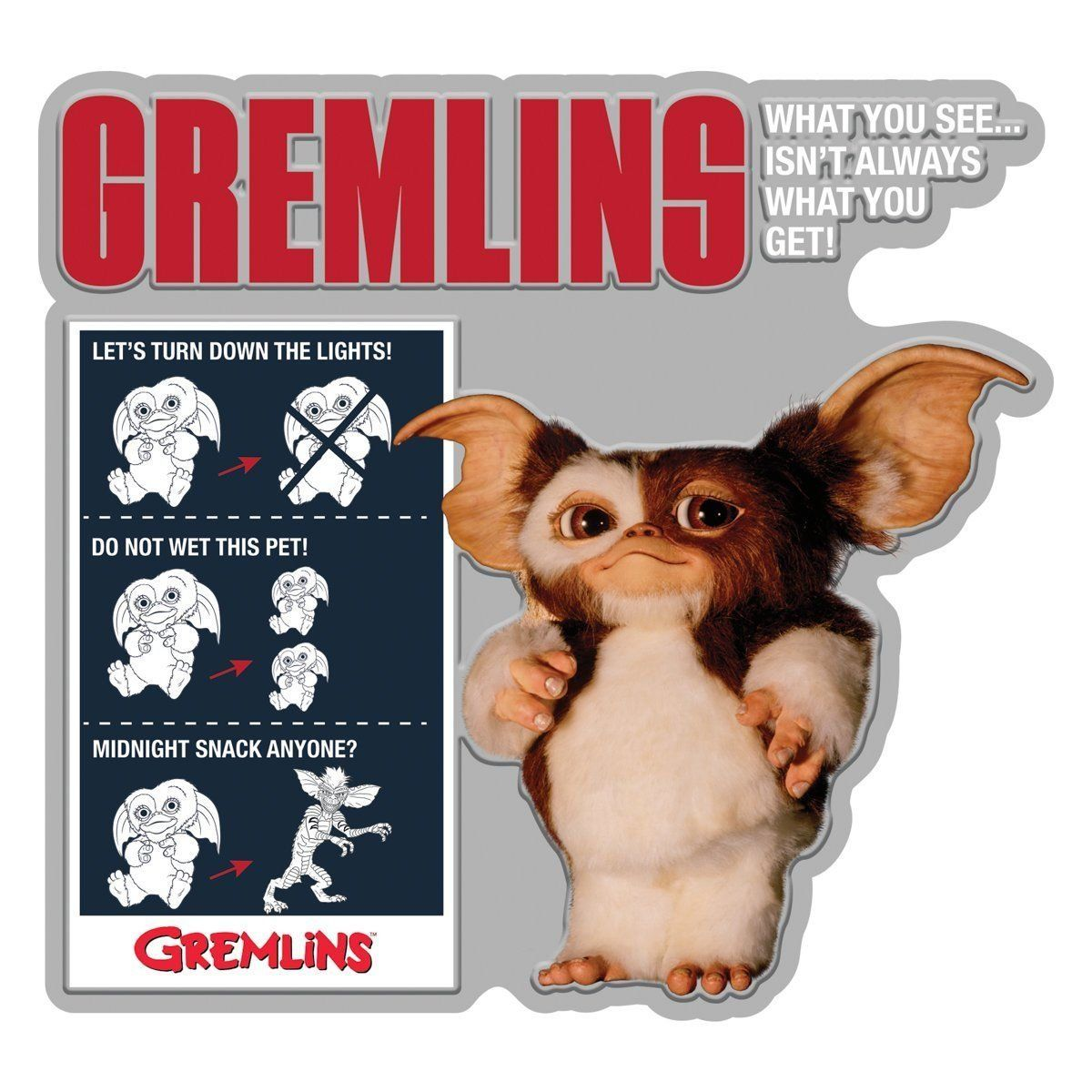 Placa Decorativa Gizmo: Gremlins - Urban