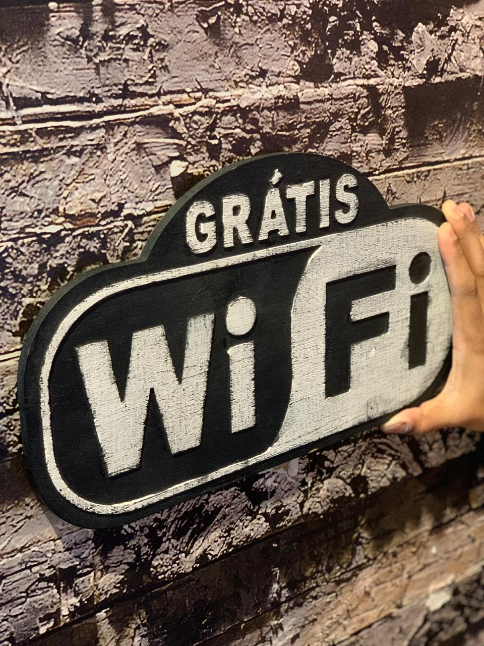 Placa Decorativa Gratis Wi-Fi - Full House