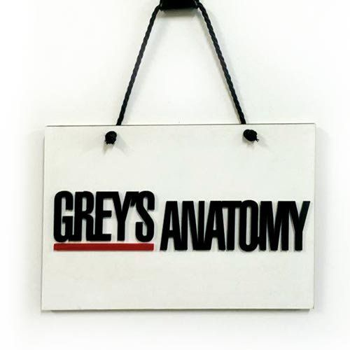 Placa Decorativa Greys Anatomy
