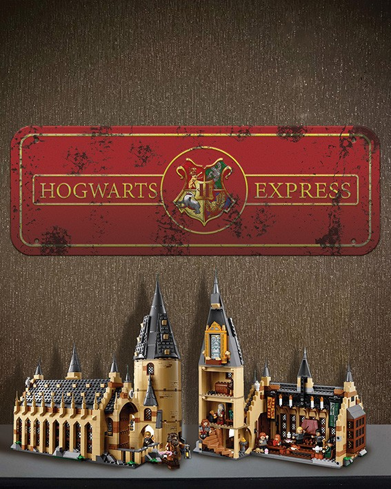 Placa Decorativa Hogwarts Express: Harry Potter
