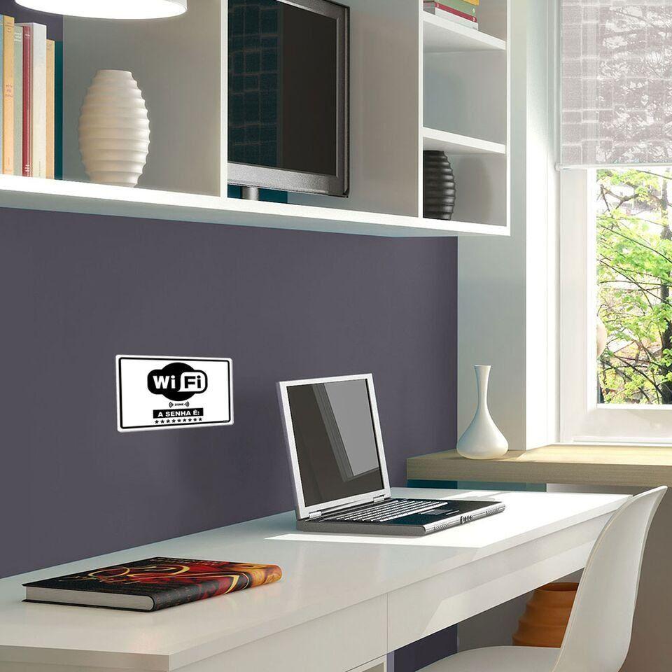 Placa Decorativa Horizontal Senha Wi-Fi