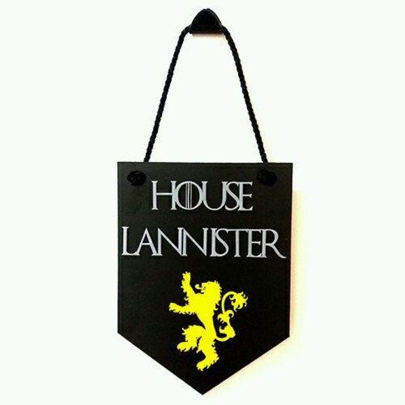 Placa Decorativa House Lannister - Game of Thrones