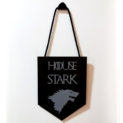 Placa Decorativa House Stark: Game of Thrones