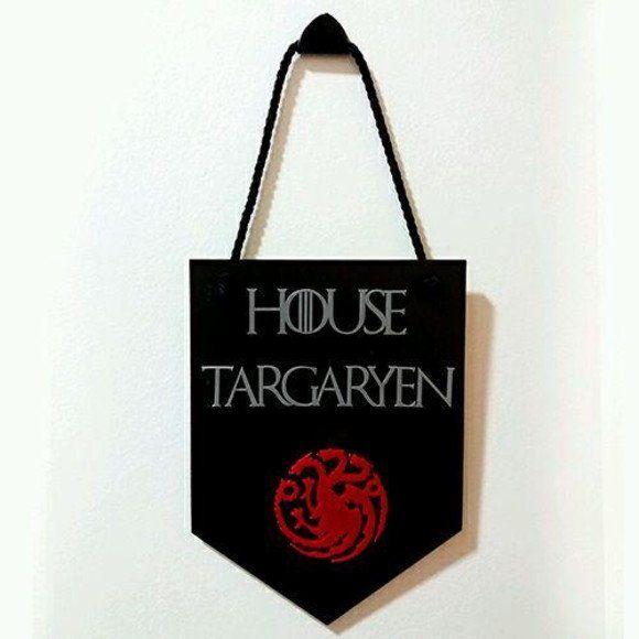Placa Decorativa House Targaryen - Game of Thrones