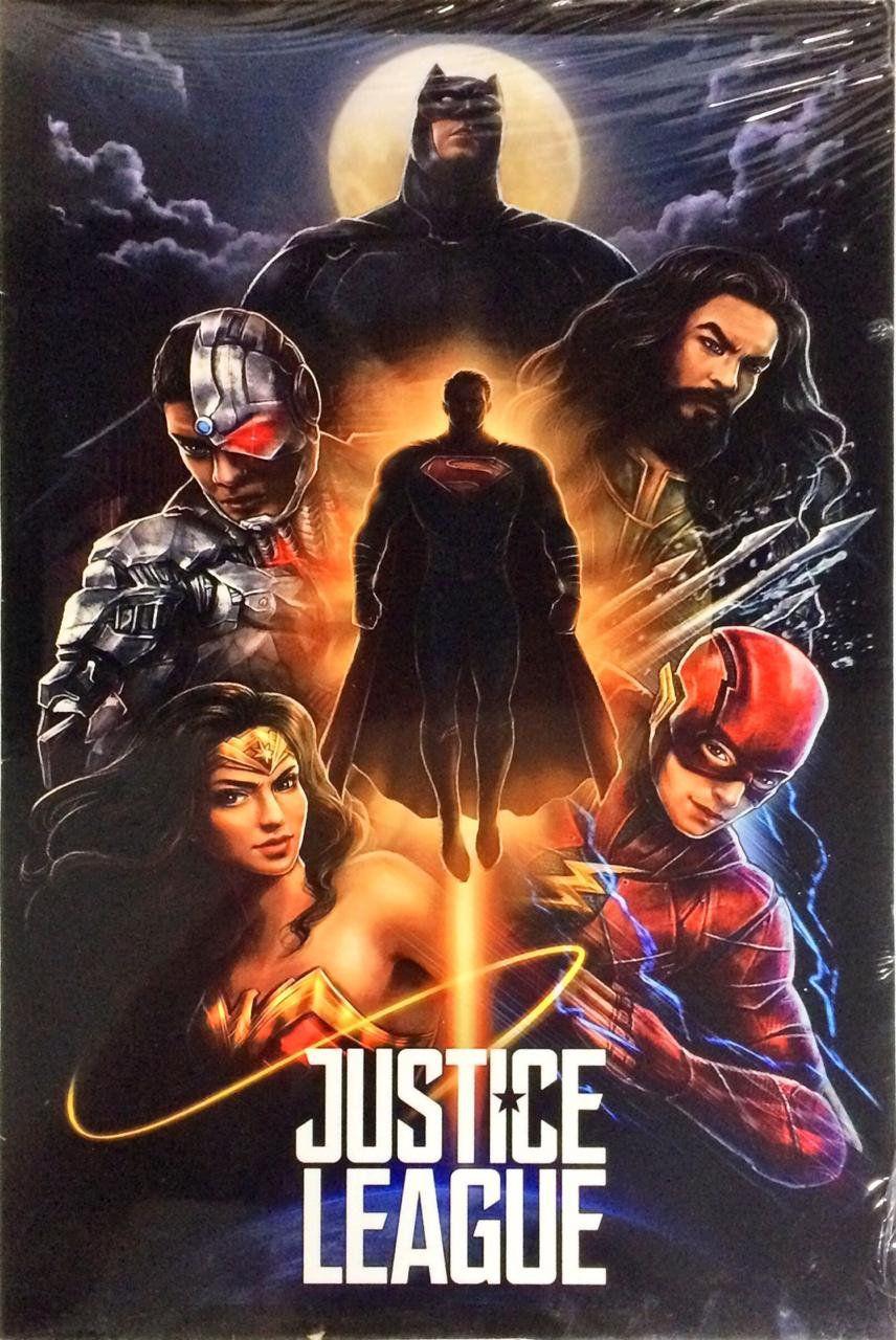 Placa Decorativa: Liga da Justiça (Justice League) Filme