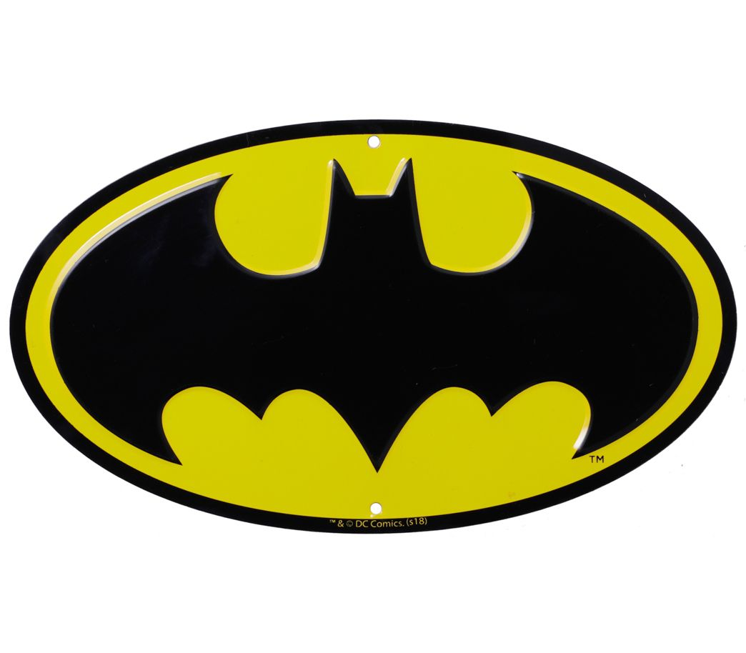 Placa Decorativa Logo Batman: DC Comics - Urban