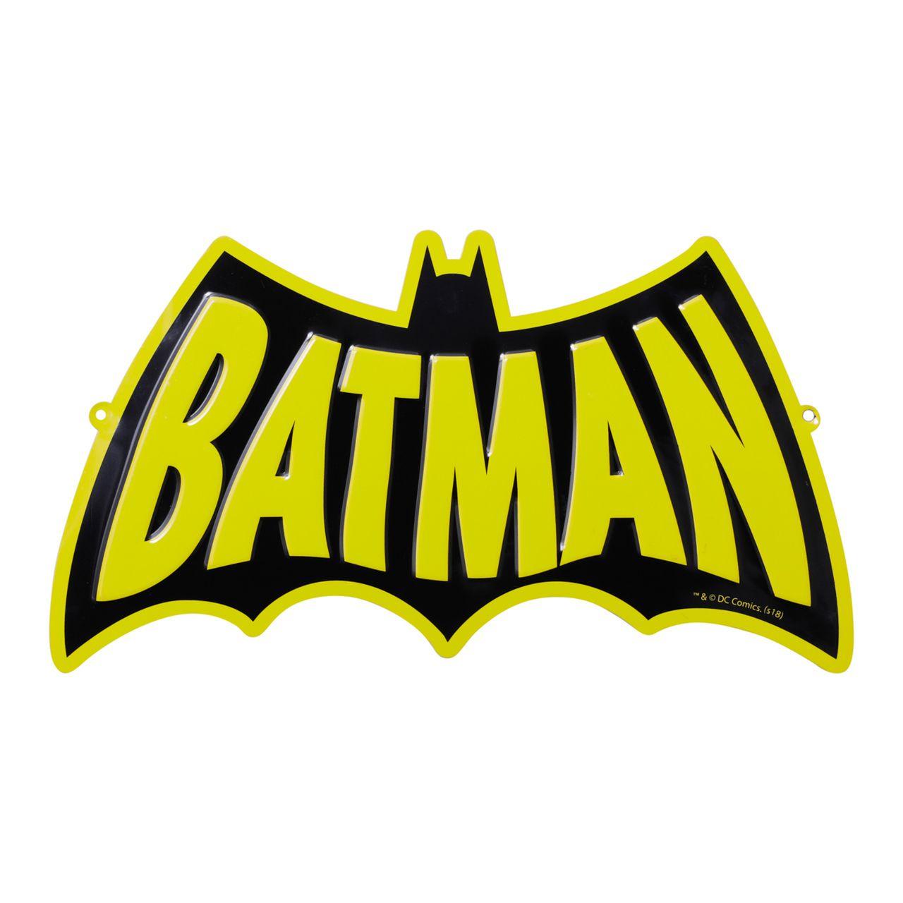 Placa Decorativa Logo Batman (Preto e Amarelo) - Urban