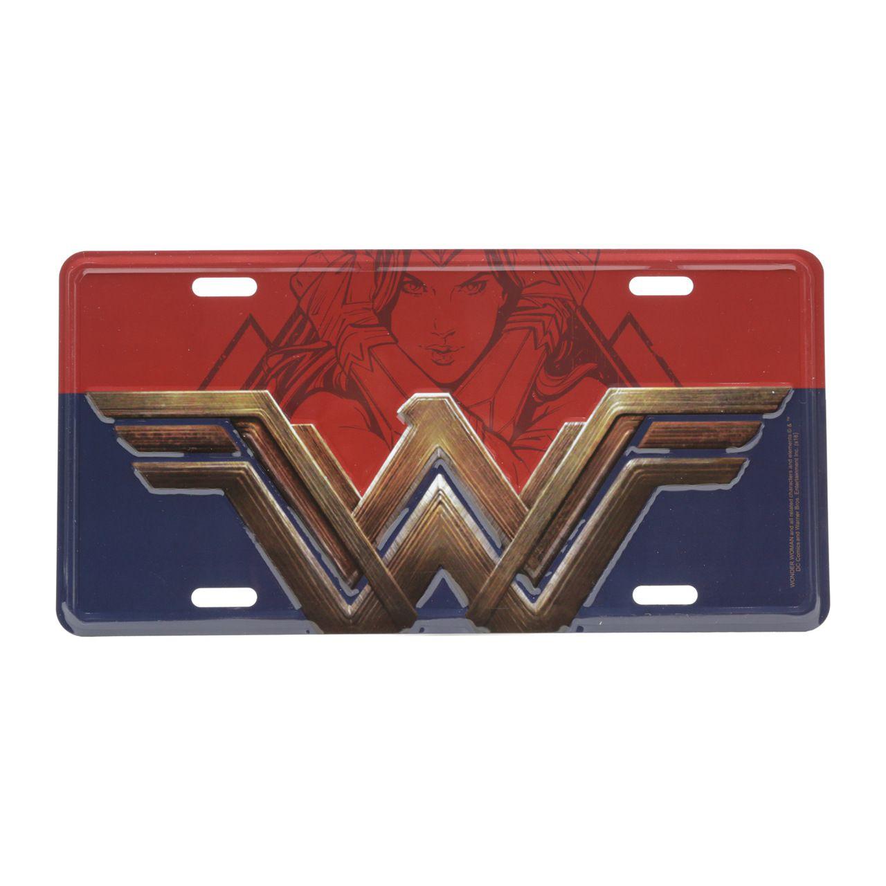 Placa De Carro Logo Mulher-Maravilha (Wonder Woman) - Urban