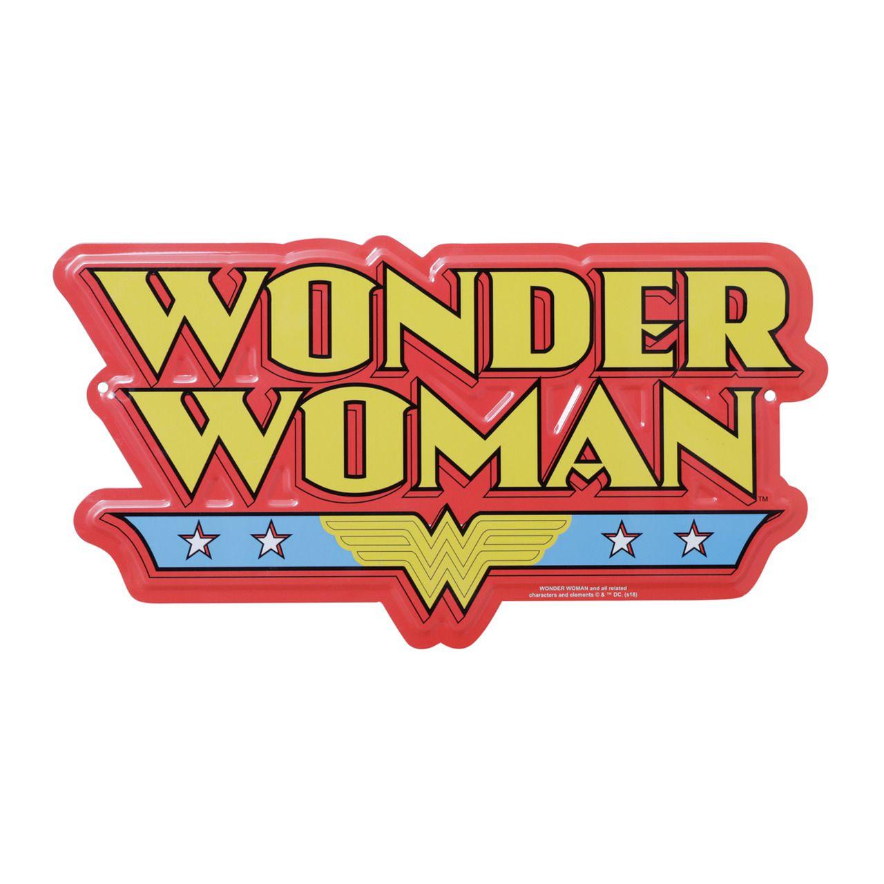 Placa Decorativa Logo Mulher-Maravilha  (Wonder Woman) - Urban