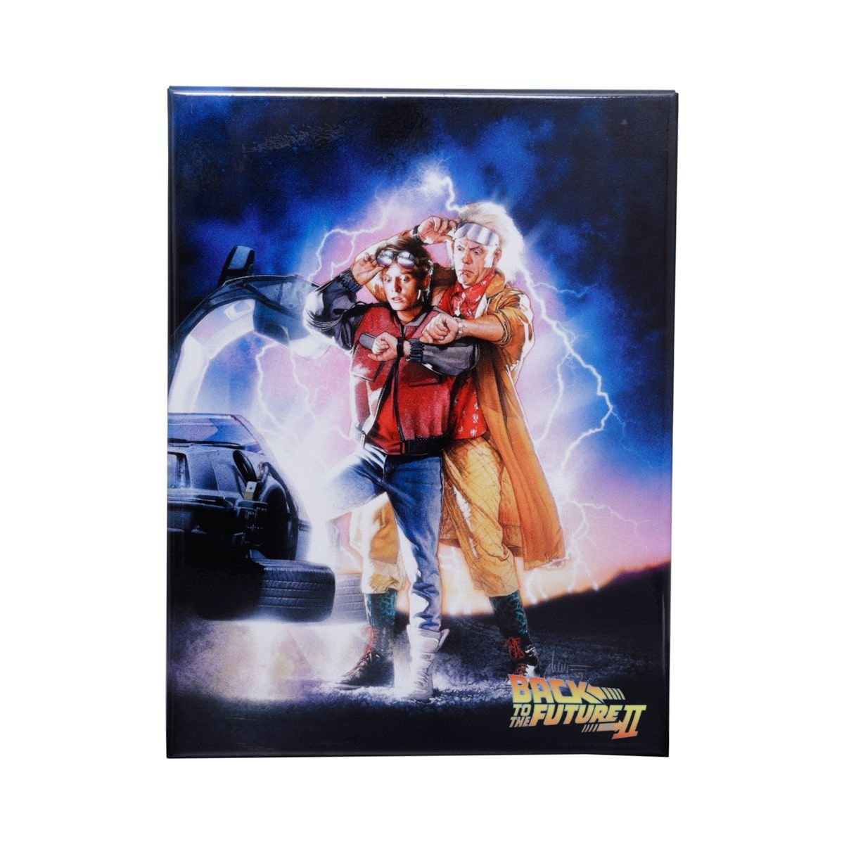 Placa Decorativa Marty & Dr. Emmett: De Volta para o Futuro 2 (Back to the Future Part II) - Urban
