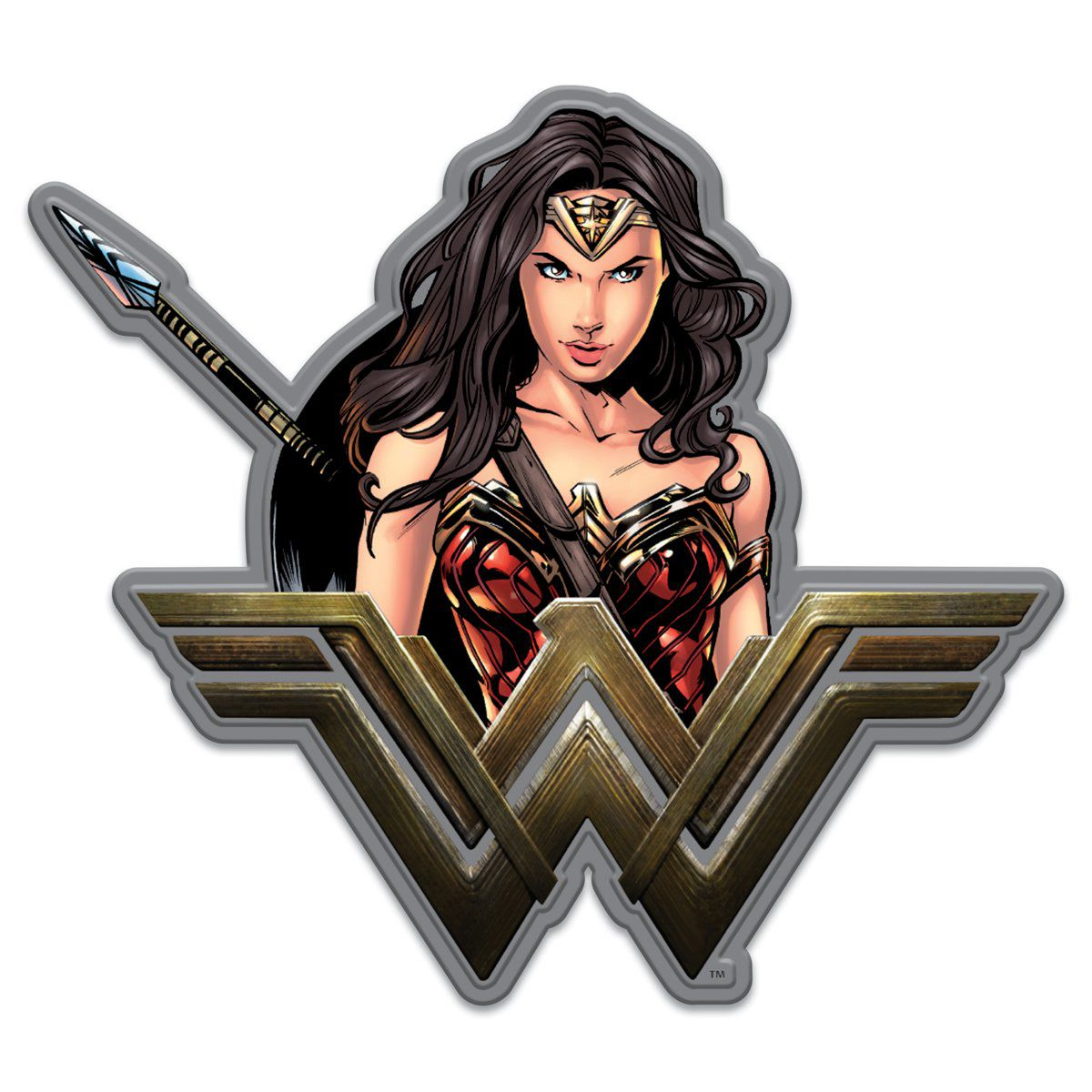 Placa Decorativa Mulher-Maravilha (Wonder Woman) - Urban