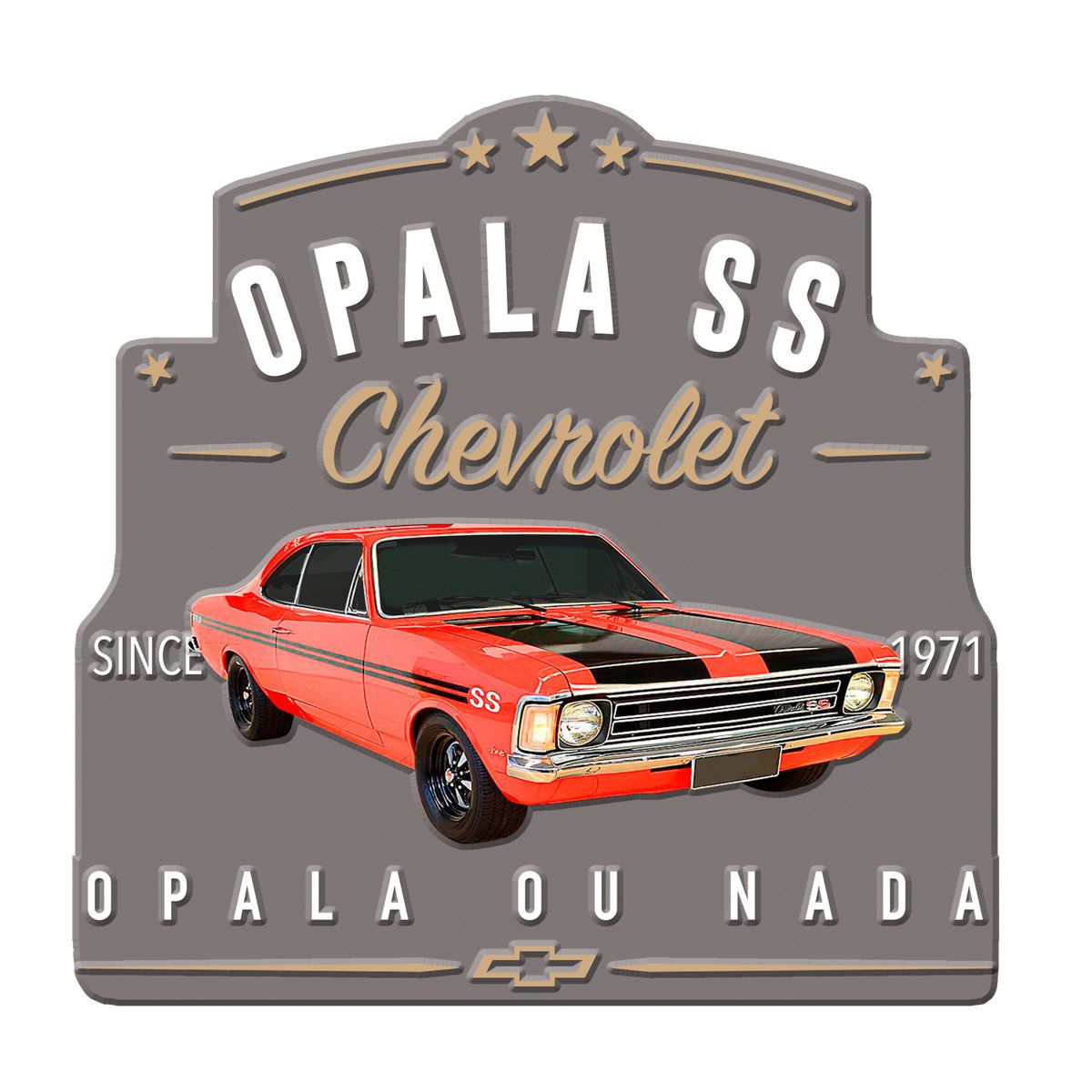 Placa Decorativa Opala 1971 SS