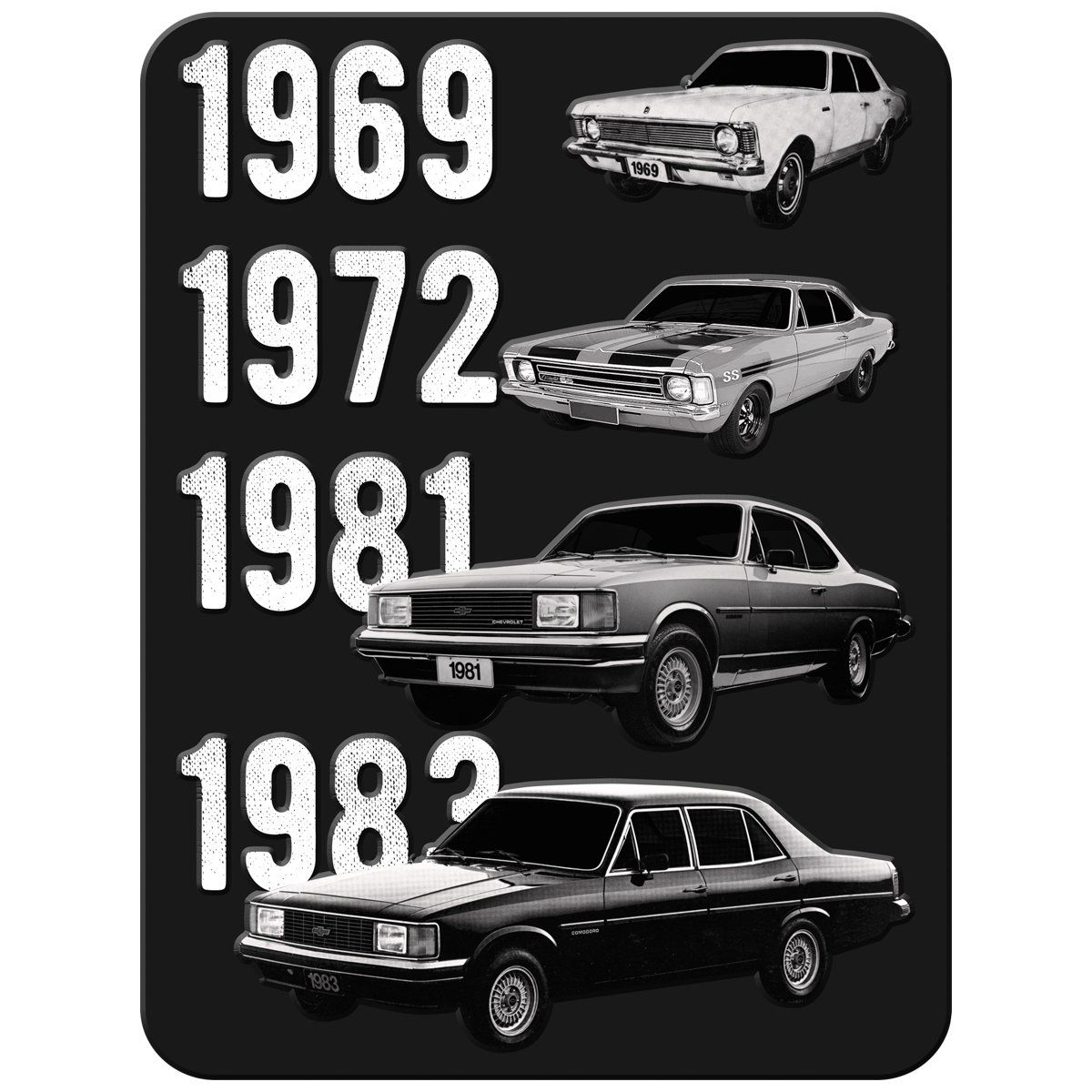 Placa Decorativa Opala Evolution (Preto): GM