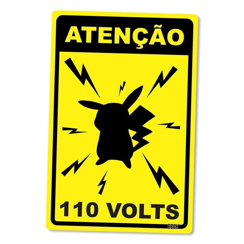 Placa Decorativa Pikachu 110V
