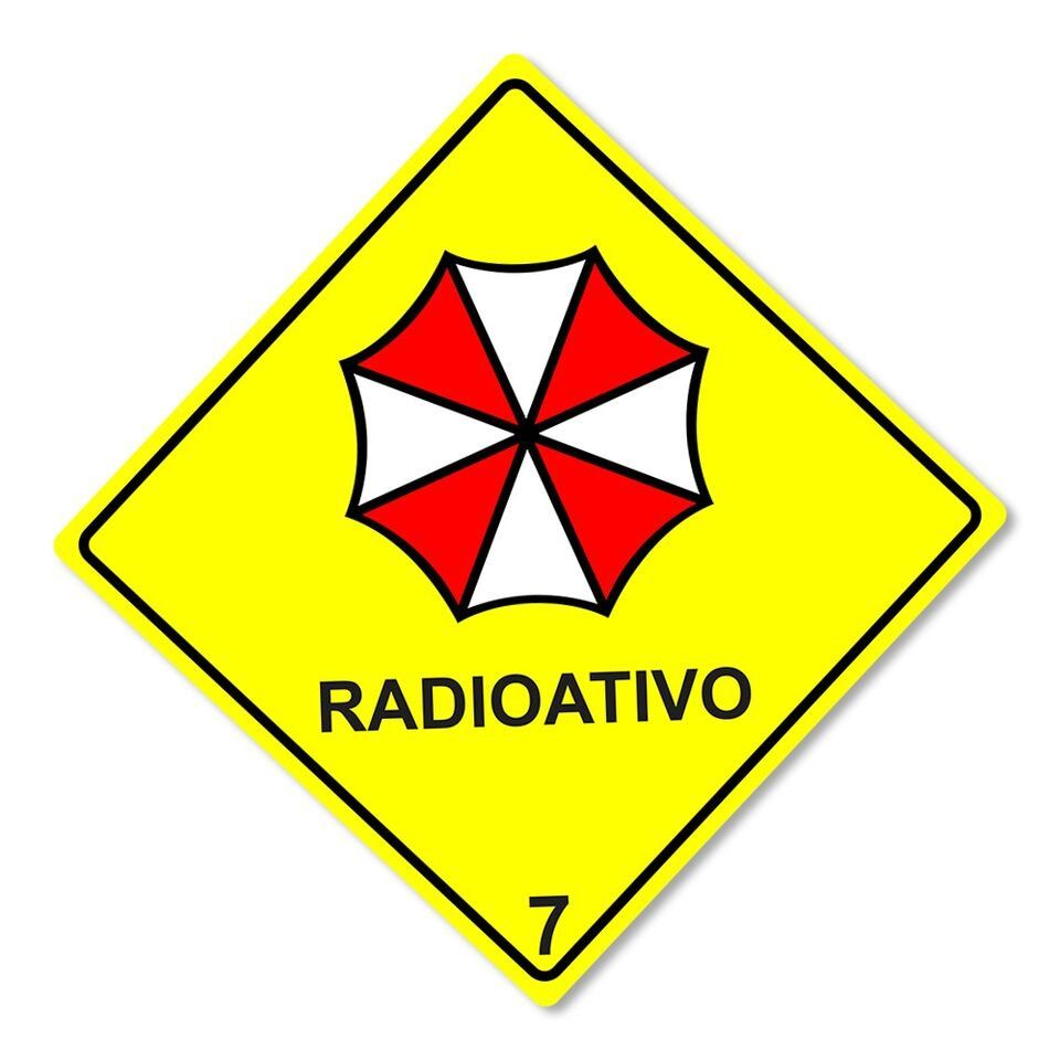 Placa Decorativa Radioativo Umbrella