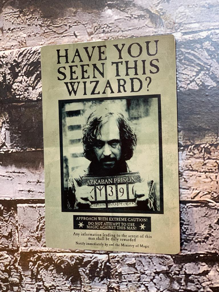 Placa Decorativa Sirius Black: Harry Potter