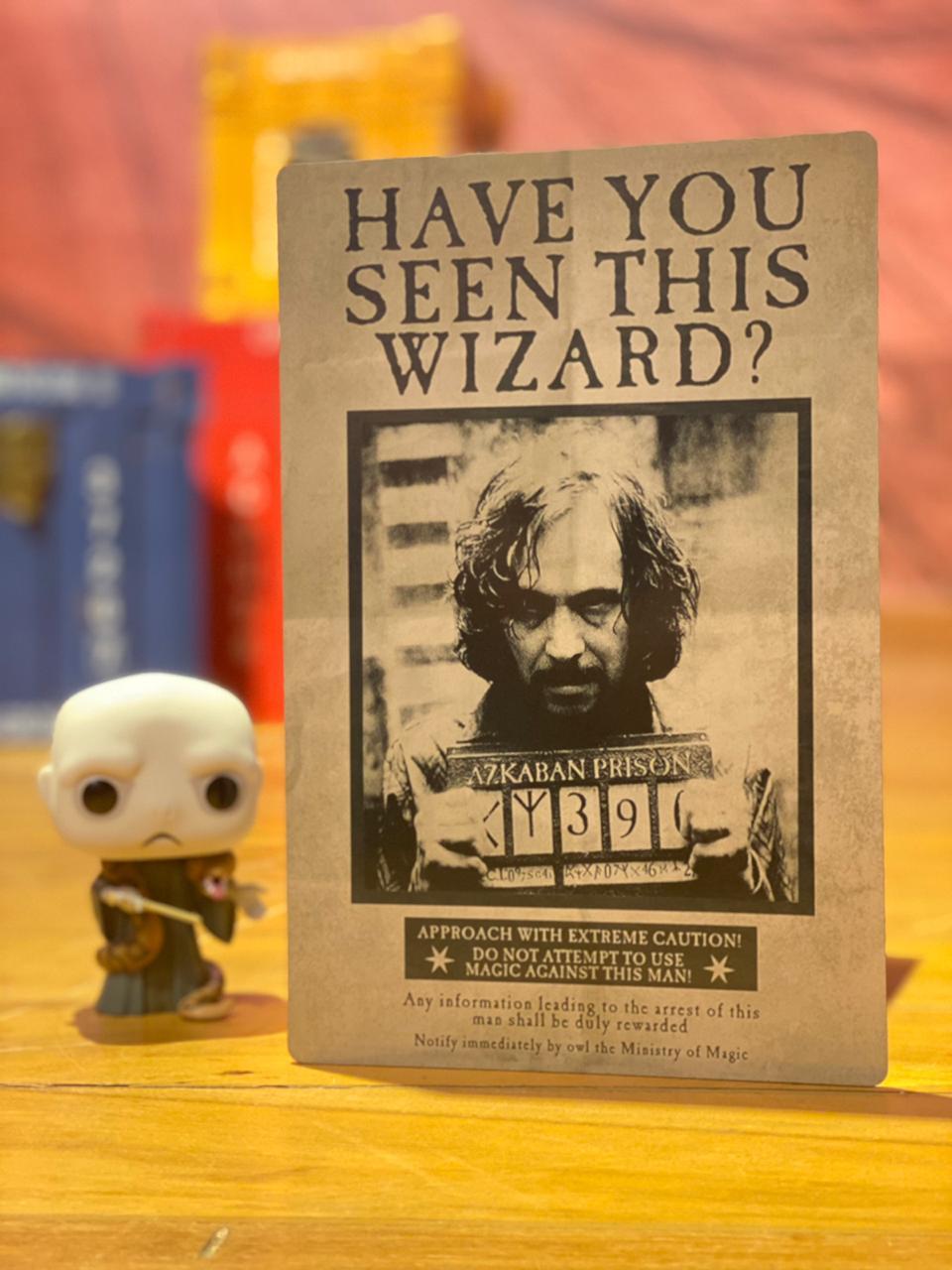 Placa Decorativa Sirius Black: Harry Potter - EV