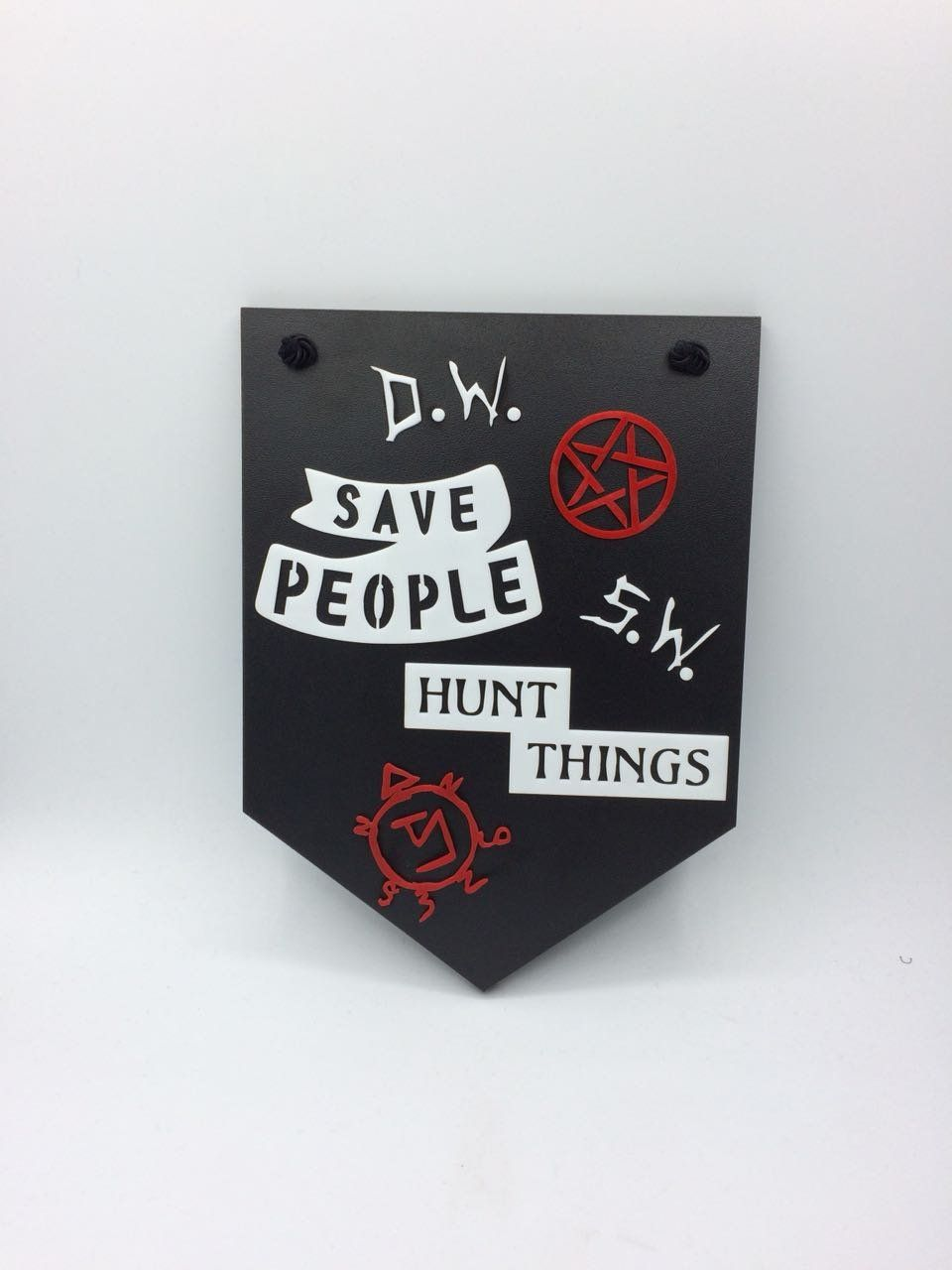 Placa Decorativa Sobrenatural ( Supernatural ) Save People - Hunt Things