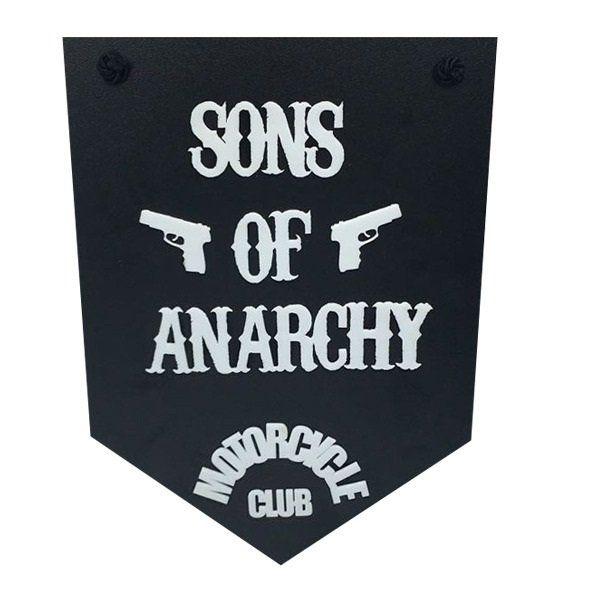 Placa Decorativa Sons Of Anarchy - Motocycle Club