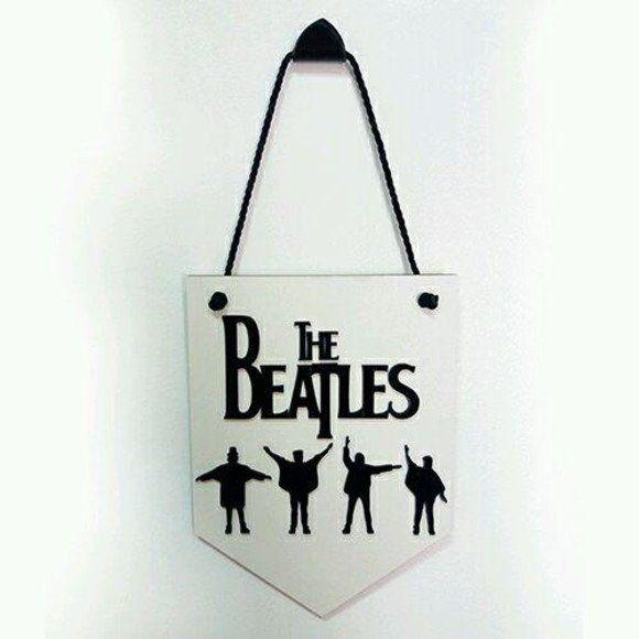Placa Decorativa The Beatles