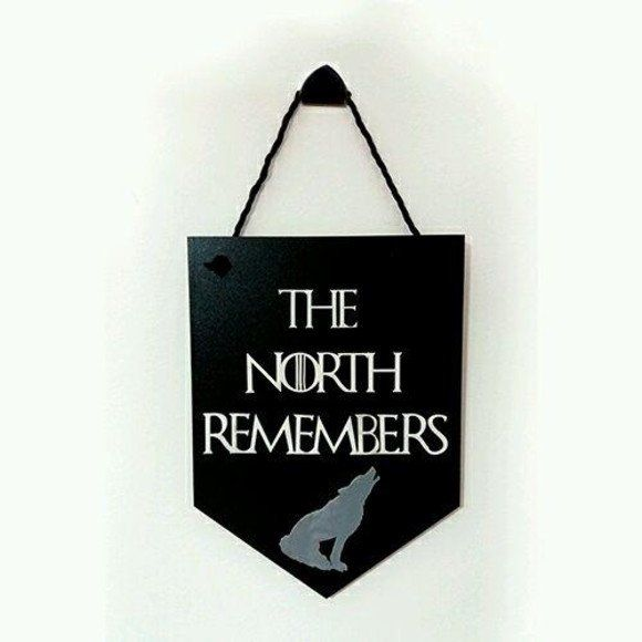 Placa Decorativa The North Remembers - Game of Thrones