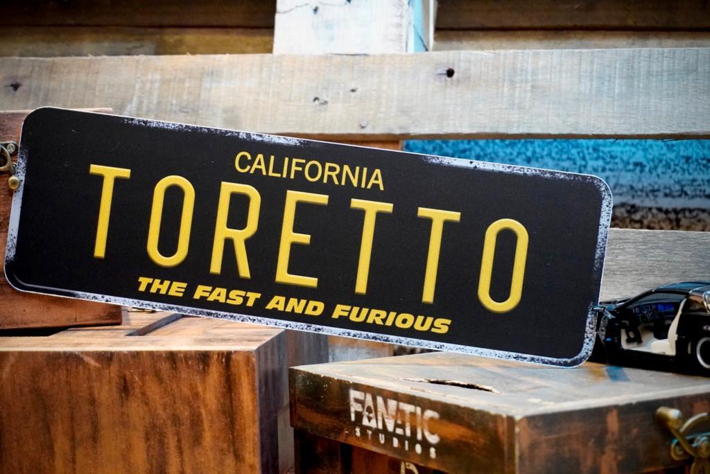 Placa Decorativa Toretto: Velozes e Furiosos - The Fast And Furious