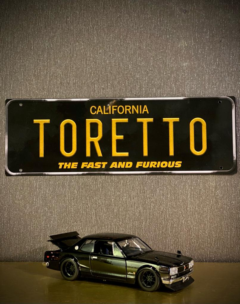 Placa Decorativa Toretto: Velozes e Furiosos - The Fast And Furious