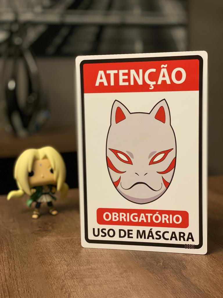 Placa Decorativa Use Máscara: Anbu (Naruto)